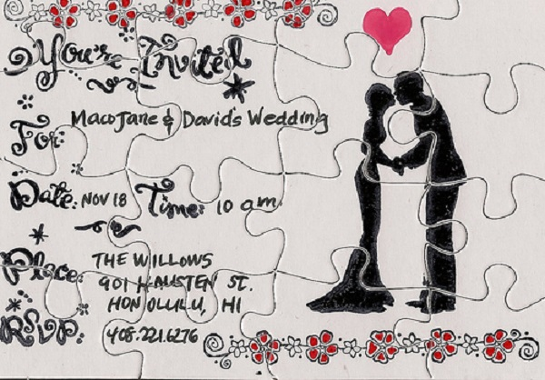 its a puzzle indeed - Unique Wedding Invitation Ideas